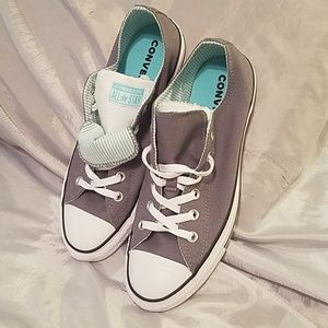 Converse women's grey with aqua and white nwot